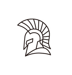 gladiator heads helmet logo design vector image