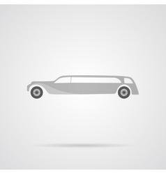 Gray Car Flat Icon vector