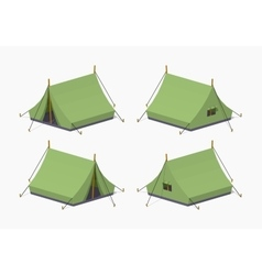 Green camping tents vector image