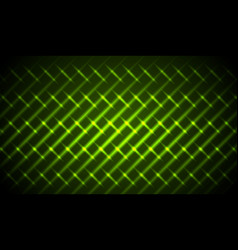 green shiny neon stripes abstract pattern vector image