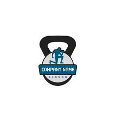 gym logo 2 vector image
