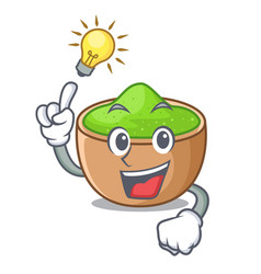 Have an idea matcha powder in isolated with mascot vector