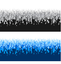 high quality cheering crowd silhouettes seamless vector image