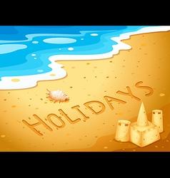 Holiday at the beach vector