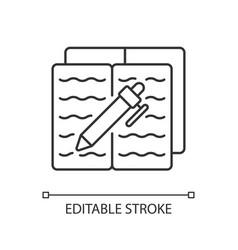 Homework linear icon vector