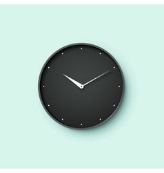 icon black clock face with shadow on mint wall vector image