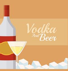 imprimir vodka and beer vector image