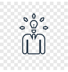 investor concept linear icon isolated on vector image