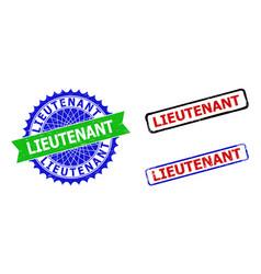 Lieutenant rosette and rectangle bicolor vector