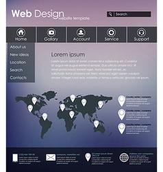Menu design for web site vector image