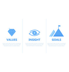 Mission vision infographic template vector