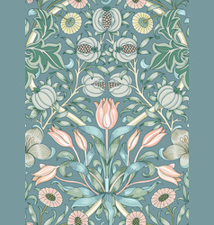 Modern floral seamless pattern for your design vector