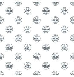 Modern meat shop pattern seamless vector