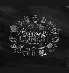 Monogram business lunch chalk vector