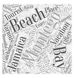 Montego bay jamaica vacation Word Cloud Concept vector