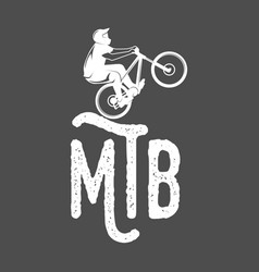 Mountain bike badges vector