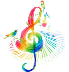 music background on white background vector image
