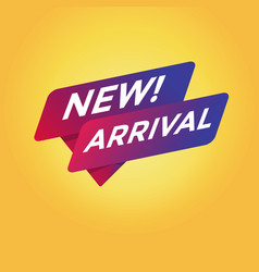 new arrival tag sign vector image