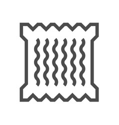 Noodle packaging icon vector