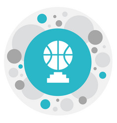 Of education symbol on b-ball vector