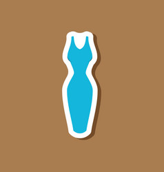 paper sticker fashion clothes dress vector image