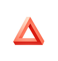 Penrose triangle icon impossible triangle shape vector
