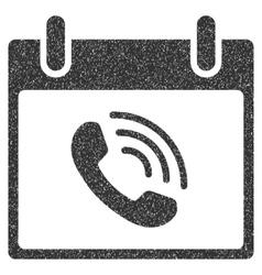 Phone Call Calendar Day Grainy Texture Icon vector
