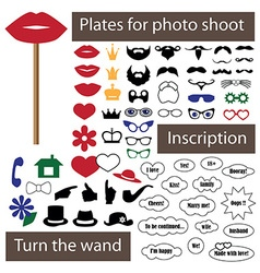 plate for photo shoot on stick vector image