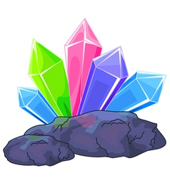 Quartz crystal vector image