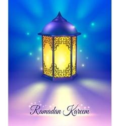Ramadan Colored Poster vector image