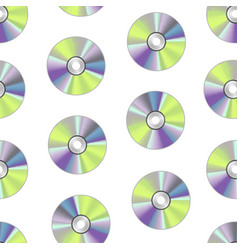 realistic detailed round cd disk background vector image