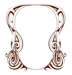 Retro frame in art nouveau style vector
