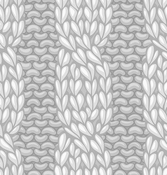 Seamless four-stitch cable front pattern vector image