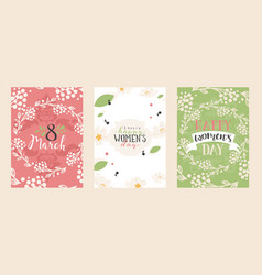 set abstract floral banners greeting card vector image