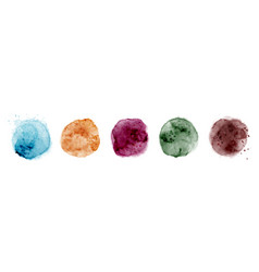 set hand-painted splash multicolor watercolor vector image