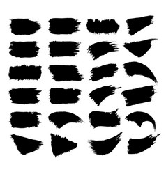 Set of black paint vector