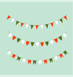set of colored flags holiday flags vector image