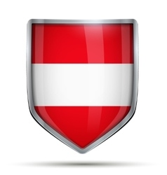 Shield with flag Austria vector