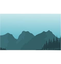 Silhouette of beautiful mountain views vector