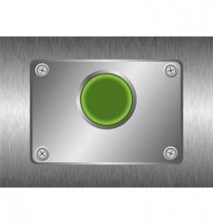 Silver metal button vector