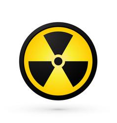 simple radioactivity symbol vector image