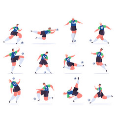 soccer players football professional sportsmen vector image