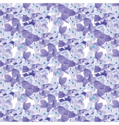 Spring Summer Lilac floral pattern vector image