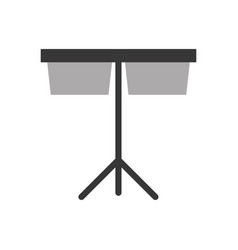 timpani music instrument icon vector image