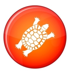 Turtle icon flat style vector