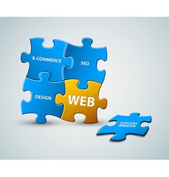 web solution vector image