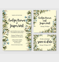 wedding invite invitation rsvp save the date vector image
