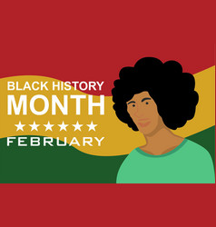 Woman black history month vector