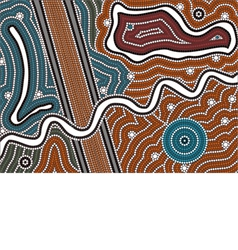 A based on aboriginal style of dot pa vector image vector image