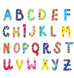Abc for children funny vector